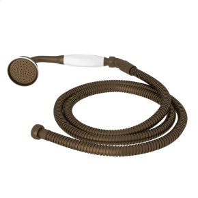 English Bronze Perrin & Rowe Inclined Handshower And Hose