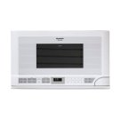 1.5 cu. ft. 1100W Sharp White Over-the-Counter Carousel Microwave Oven Product Image