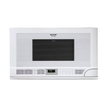 1.5 cu. ft. 1100W Sharp White Over-the-Counter Carousel Microwave Oven
