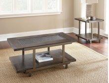 "Terrell End Table 24""x24""x24""H insert:348x307x5mm temp. glass"