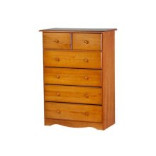 6-Drawer Chest, Honey Pine