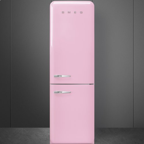 "Approx 24"" 50'S Style refrigerator with automatic freezer, Pink, Right hand hinge"