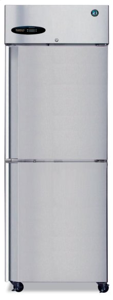 Refrigerator, Single Section Upright, Half Stainless Door