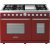Additional Range DECO 48'' Classic Red matte, Chrome 6 gas, griddle and 2 gas ovens