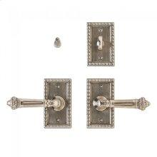 "Corbel Rectangular Privacy Set - 2 1/2"" x 4 1/2"" Silicon Bronze Brushed"