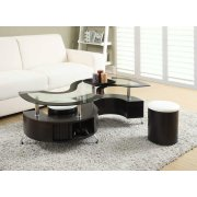 Delange Motion White Coffee Table Product Image