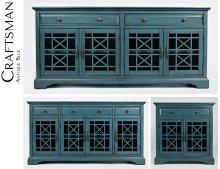 """Craftsman Antique Blue 60"""" Media Unit"""