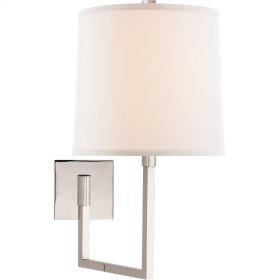 Visual Comfort BBL2029PN-L Barbara Barry Aspect 14 inch 100 watt Polished Nickel Swing-Arm Wall Light