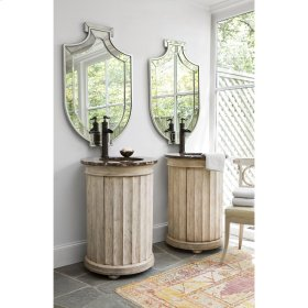 Column Pedestal Sink Chest - Antique Whi