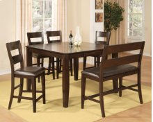 Pub Table w/ 4 Pub Chairs & Bench