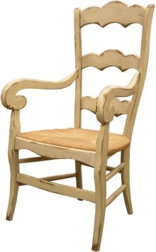 Isabella Arm Chair with Rush Seat