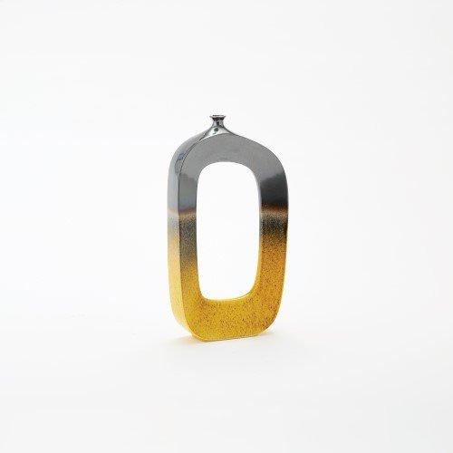 Mirco Vase-Grey/Yellow-Sm
