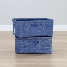 Nightstand Baskets, 2-Pack - Chambray