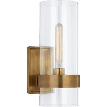 Visual Comfort S2166HAB-CG Ian K. Fowler Presidio 1 Light 6 inch Hand-Rubbed Antique Brass Sconce Wall Light, Small