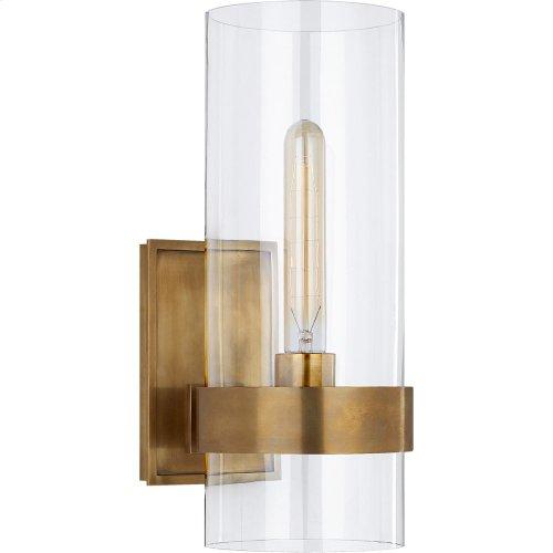 Visual Comfort S2166HAB-CG Ian K. Fowler Presidio 1 Light 6 inch Hand-Rubbed Antique Brass Sconce Wall Light, Small
