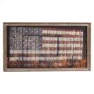 Framed Slat American Flag on Barn Wall Decor. Product Image