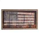 Framed Slat American Flag on Barn Wall Decor Product Image