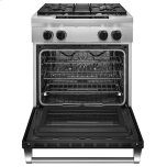 Kitchenaid 30'' 4-Burner Dual Fuel Freestanding Range, Commercial-Style - Imperial Black