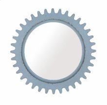 Epicenters Williamsburg Round Mirror - Blue