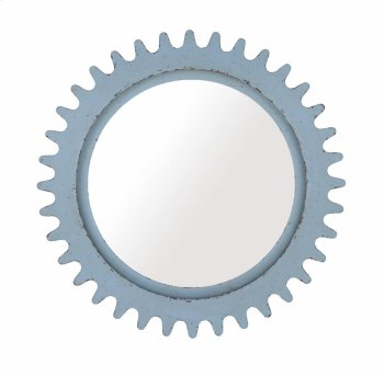 Epicenters Williamsburg Round Mirror - Blue Product Image