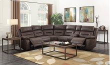 "Aria Left Arm Loveseat, w/1 Pwr Pwr Recliner, 62""x44""x42.5"""