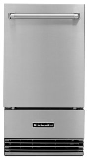 "18"" Outdoor Automatic Ice Maker - Stainless Steel Product Image"