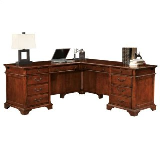 Weathered Cherry Executive L-Desk