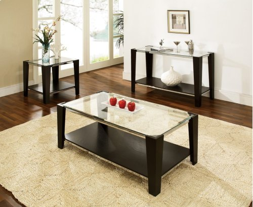 """Newman End Table Base 24""""H Dark Espresso Finished"""