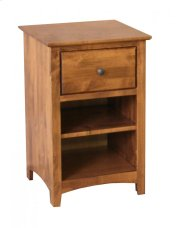 Alder Shaker 1 Drawer Nightstand Product Image