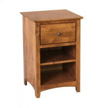 Alder Shaker 1 Drawer Nightstand