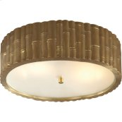 Visual Comfort AH4005NB-FG Alexa Hampton Frank 3 Light 15 inch Natural Brass Flush Mount Ceiling Light