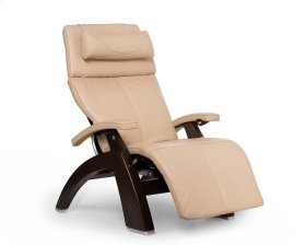 Perfect Chair PC-600 Omni-Motion Silhouette - Ivory Premium Leather - Dark Walnut