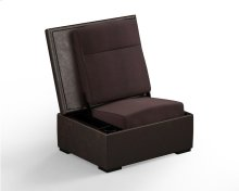 JumpSeat Ottoman, Bark Cover / Root Beer Seat