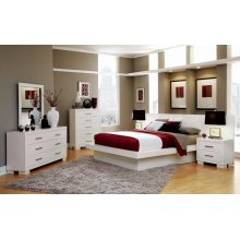 Jessica Contemporary White California King Four-piece Set