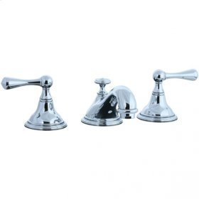 Asbury - 3 Hole Widespread Teapot Lavatory Faucet - Polished Nickel