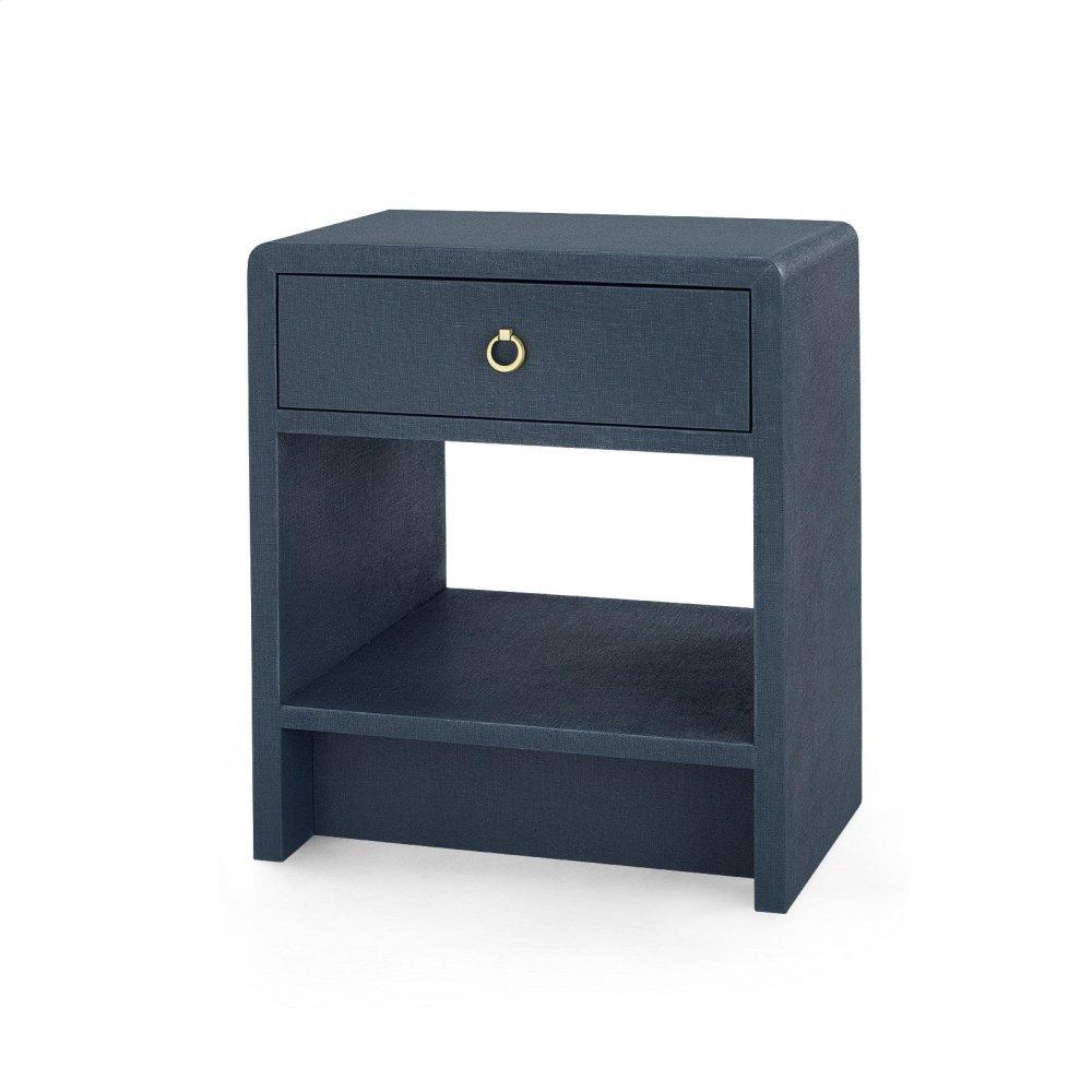 Benjamin 1-Drawer Side Table, Navy Blue