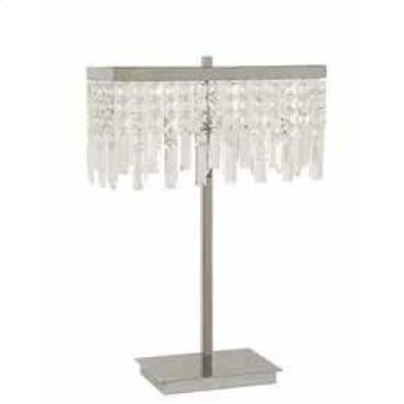Transitional Dropped Crystal Table Lamp