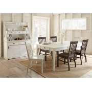 """Cayla Side Chair, White 20""""x24""""x40"""" Product Image"""