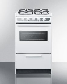 """20"""" Wide Slide-in Gas Range In White With Sealed Burners, Oven Window, Light, and Electronic Ignition; Replaces Wnm114rw"""