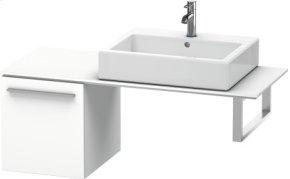 Low Cabinet For Console, White Matt