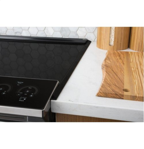 """GE Profile Series 30"""" Slide-In Front Control Induction and Convection Range"""
