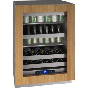 """U-Line 5 Class 24"""" Beverage Center With Integrated Frame Finish And Field Reversible Door Swing (115 Volts / 60 Hz)"""