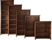 Shaker Bookcases Espresso Product Image