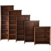 Shaker Bookcases Espresso Product Image