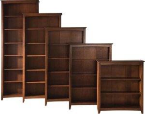 Shaker Bookcases Espresso