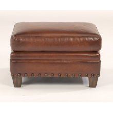 Maxfield Leather Ottoman