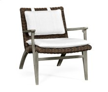 Navajo Sand & Rattan Lounge Chair, Upholstered in COM