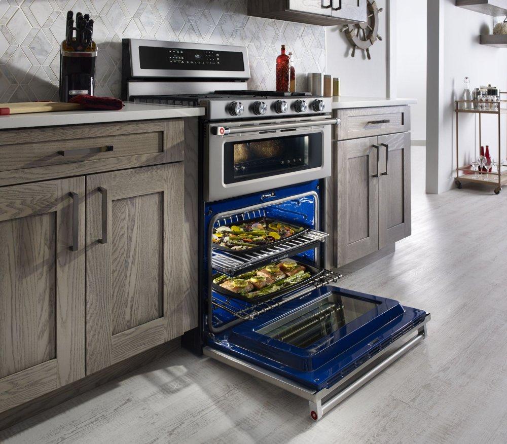 KFDD500ESS KitchenAid 30-Inch 5 Burner Dual Fuel Double Oven ...