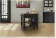 1 Drawer, 1 Mesh Door Kitchen Island - Black finish Product Image