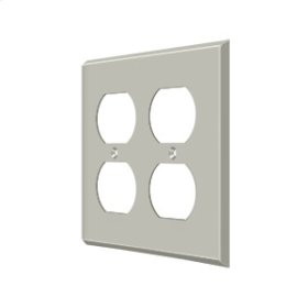 Switch Plate, Quadruple Outlet - Brushed Nickel